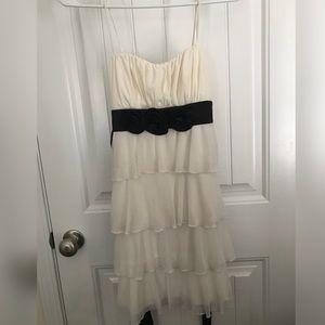 Off White Ruffled Dress
